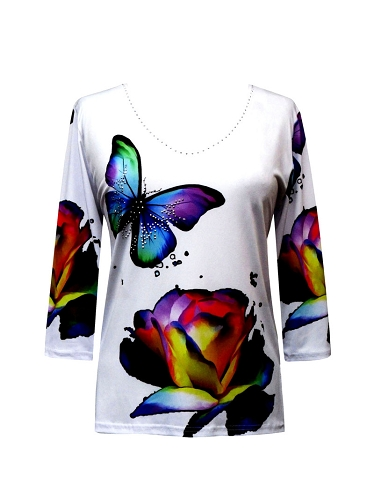 S19 19624-1 Valentina Signa Colorful Butterflies
