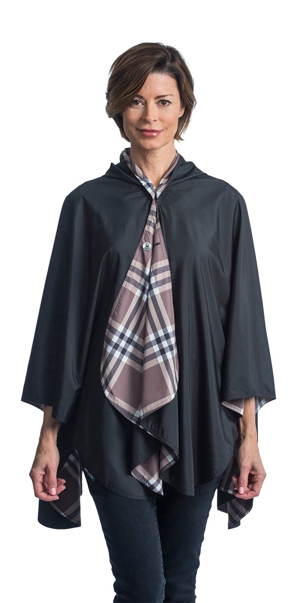 RainCaper - Black with Coco Plaid