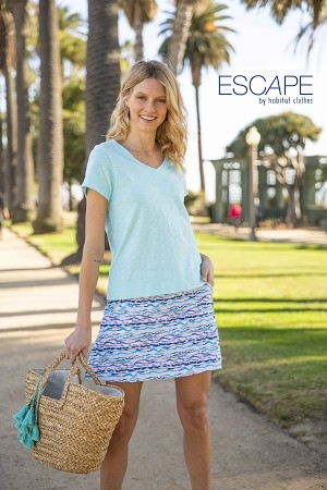 Escape Solid V-Neck Tee