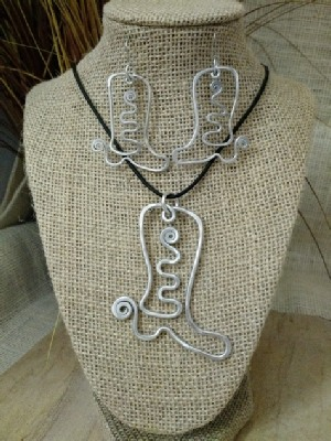 Boot Necklace or Earrings