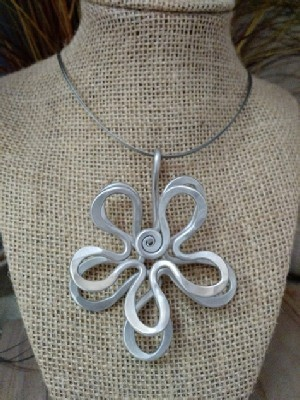 Double Flower Necklace