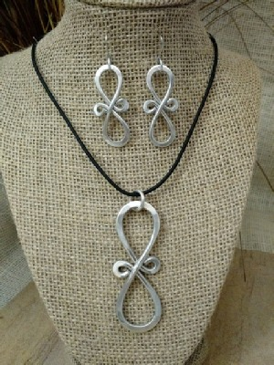 Infinity Necklace or Earrings