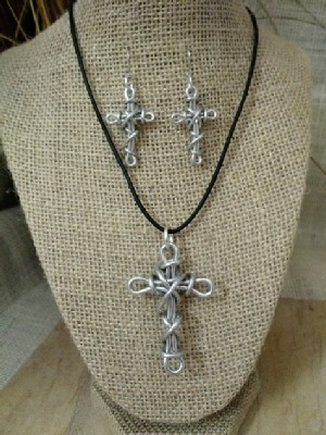 Cross Necklace, or Earrings