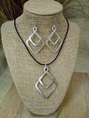 Diamond Double Necklace,  or Earrings
