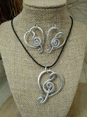For The Love Of Music -Necklace or Earrings