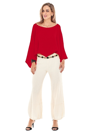 OMG - A cotton gauze top (poncho). Great for layering!