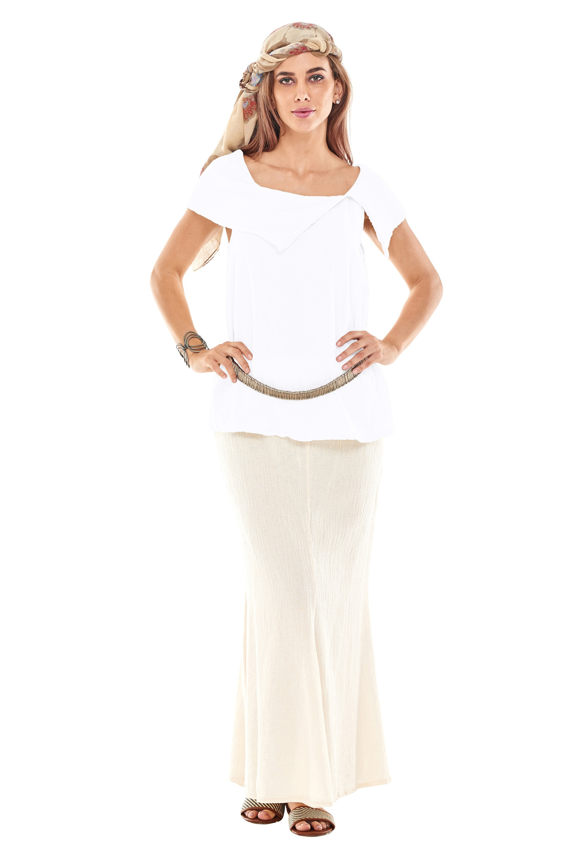 OMG - A cotton gauze tank top with a shawl collar.