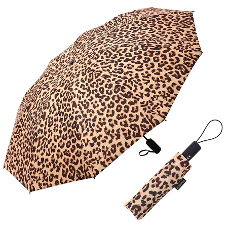 RAINCAPER LEOPARD FOLDING TRAVEL UMBRELLA