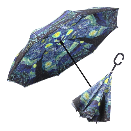 RAINCAPER VAN GOGH STARRY NIGHT REVERSE UMBRELLA