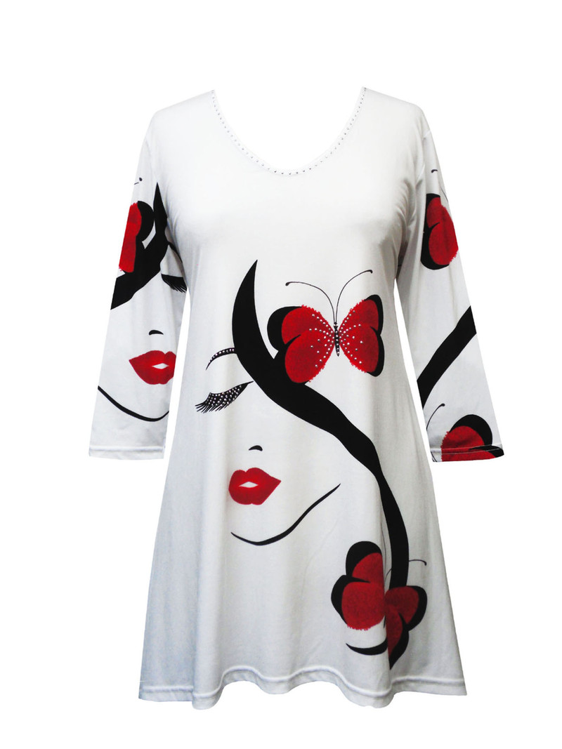 19798 Valentina Signa Red Lips and Butterflies