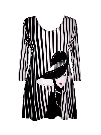 12051 Valentina Signa Lady and Stripes Tunic