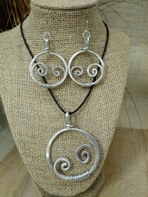 Mother and Child Necklace or  Earrings
